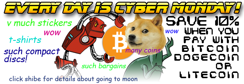 Save 10% when you pay with Bitcoin Dogecoin or Litecoin